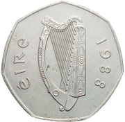 50 pence (Millénaire de Dublin) – avers