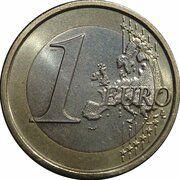 1 euro (2e carte) – revers