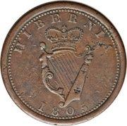 Hibernia 1805 Public Accommodation Penny – avers