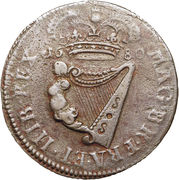 ½ Penny - Charles II (Large letters) – revers