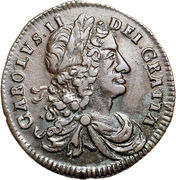 ½ penny - Charles II (petites lettres) -  avers