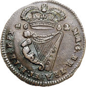 ½ penny - Charles II (petites lettres) -  revers