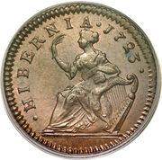 ½ Penny - George I – revers