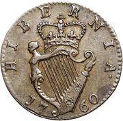 1 Farthing - George II – revers