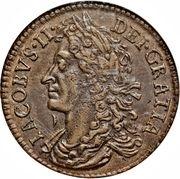 30 Pence - James II (Gun Money Coinage) – avers
