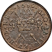 30 Pence - James II (Gun Money Coinage) – revers