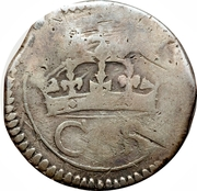 12 Pence - Charles (Ormonde coinage) – avers