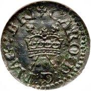 1 farthing - Charles I  (Richmond) – avers