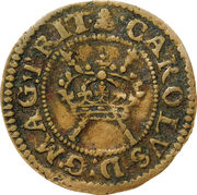 """1 Farthing - Charles I (""""Maltravers"""" issue) – avers"""