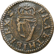 """1 farthing Charles II (""""Armstrong"""" issue) – revers"""