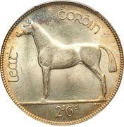 ½ coróin / 2 scilling 6 pingin -  revers