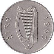 5 pence (type large) -  avers