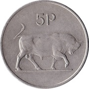 5 pence (type large) -  revers