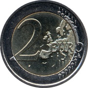 2 euros Drapeau européen -  revers