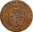 ½ Penny (Wicklow - Cronebane) – revers