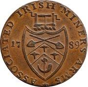 ½ Penny (Wicklow - Cronebane) -  revers