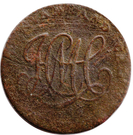 ½ Penny (Dublin – Camac Kyan and Camac) – revers