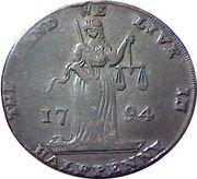 ½ Penny (Dublin L & R) – avers