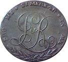 ½ Penny (Dublin L & R) – revers
