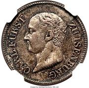 1 ducat Carl de Isenburg-Birstein (frappe éssai en argent) – avers