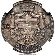 1 ducat Carl de Isenburg-Birstein (frappe éssai en argent) – revers