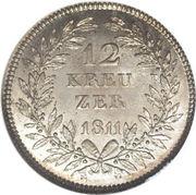 12 Kreuzer - Carl Friedrich Ludwig Moritz – revers