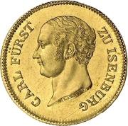 2 Ducats - Carl von Isenburg-Birstein – avers