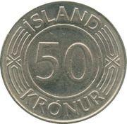 50 krónur – revers