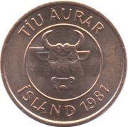 10 aurar -  avers