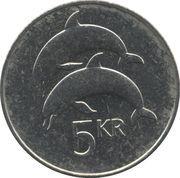 5 krónur (Non magnétique) -  revers