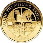 10 000 krónur (1ère colonie) – avers