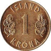 1 króna -  revers