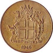 1 króna -  avers