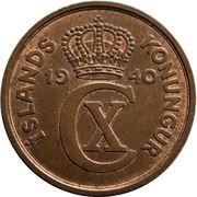 5 aurar - Christian X -  avers