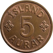5 aurar - Christian X -  revers