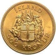 500 krónur (Jón Sigurðsson) – revers