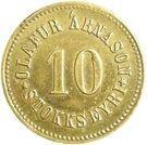 10 aurar (Olafur Arnason) – avers
