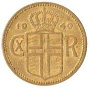 1 króna - Christian X – avers