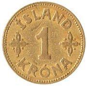1 króna - Christian X – revers