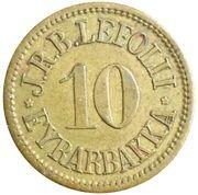10 aurar (J. R. B. Lefolii) – avers