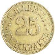 25 aurar (J. R. B. Lefolii) – avers
