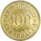100 aurar (J. R. B. Lefolii) – avers