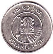 1 króna (Non magnétique) – avers