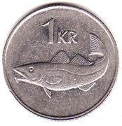 1 króna (Non magnétique) – revers