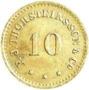10 aurar (P. J. Thorsteinsson) – avers
