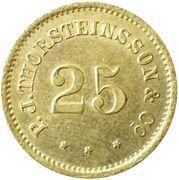 25 aurar (P. J. Thorsteinsson) – avers
