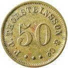 50 aurar (P. J. Thorsteinsson) – avers
