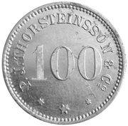 100 aurar (P. J. Thorsteinsson) – avers