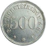 500 aurar (P. J. Thorsteinsson) – avers
