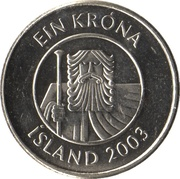 1 króna (Magnétique) -  avers